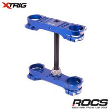 Xtrig ROCS Tech Triple Clamp Set (Blue) Yamaha YZF250 12-16 YZF450 10-15 (OS 22mm) M12